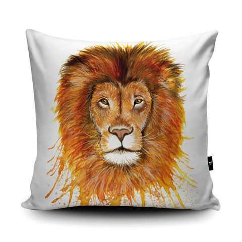 Splatter Lion Cushion by Katherine Williams