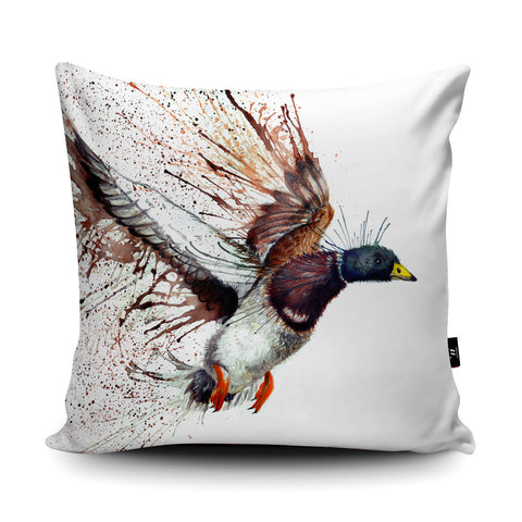 Splatter Mallard Cushion by Katherine Williams