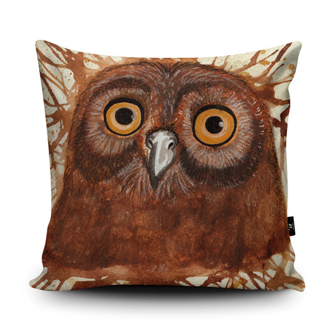 Splatter Owl Cushion by Katherine Williams