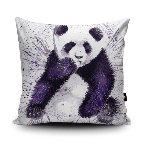 Splatter Panda Cushion by Katherine Williams