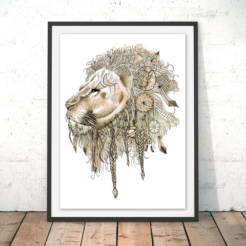 Lion's Mane Original Print by Stephanie Wood