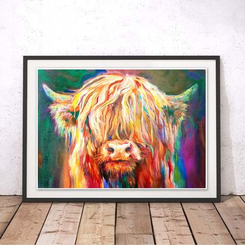 Baby Highland Original Print by Sue Gardner