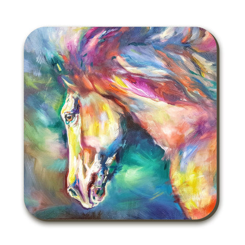 Chestnut Horse Coaster by Sue Gardner