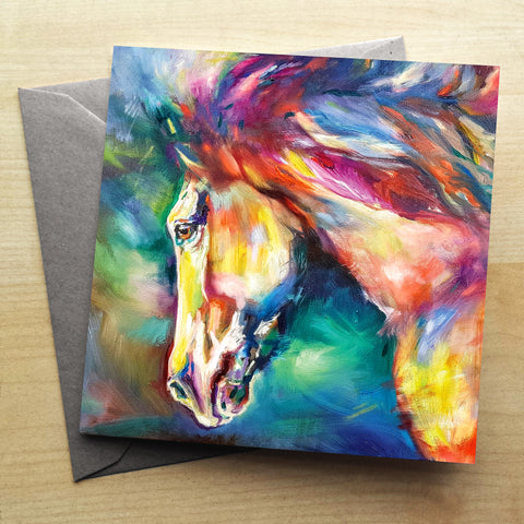 Chestnut Horse Greetings Card by Sue Gardner