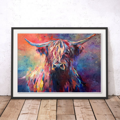 Highland Cow Original Print by Sue Gardner