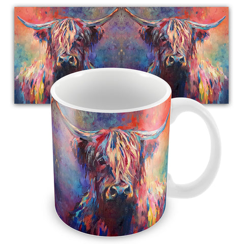 Highland Cow Ceramic Mug by Sue Gardner