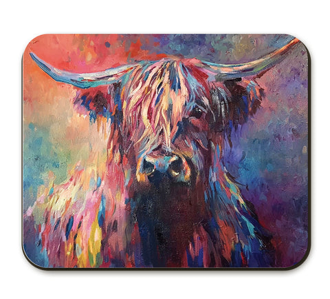 Highland Cow Placemat by Sue Gardner