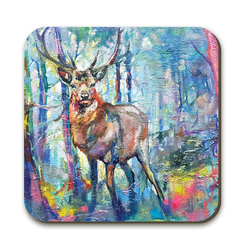 Mystic Stag Coaster by Sue Gardner