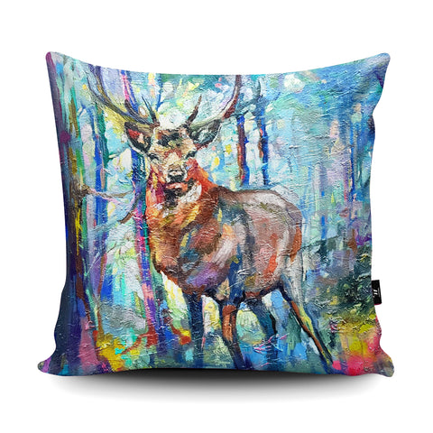 Mystic Stag Cushion by Sue Gardner
