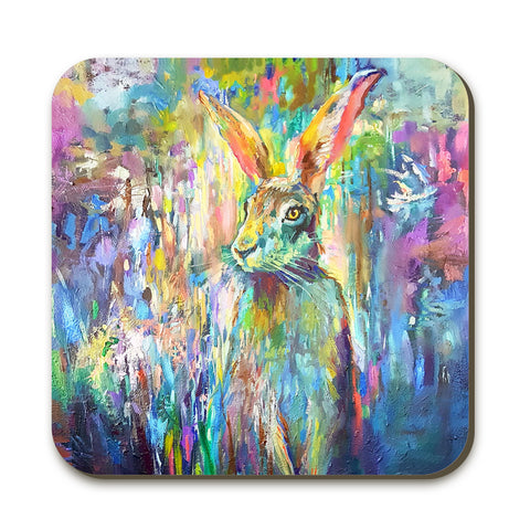 Woodland Hare Coaster by Sue Gardner