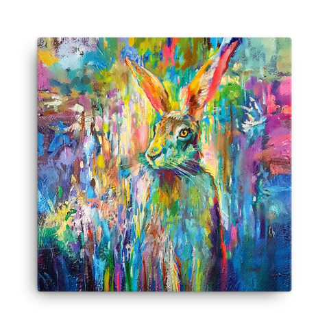 Woodland Hare Canvas Mini by Sue Gardner