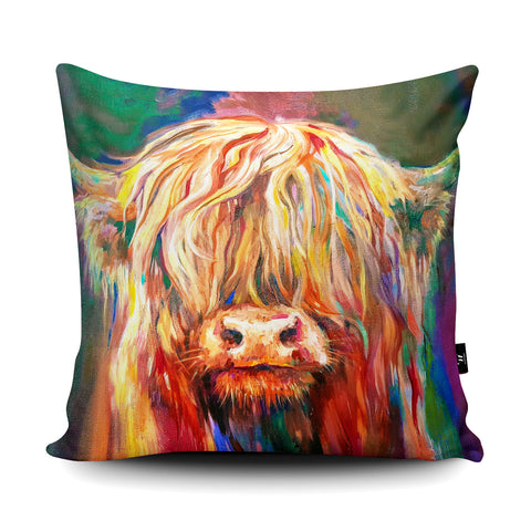 Baby Highland Cushion by Sue Gardner