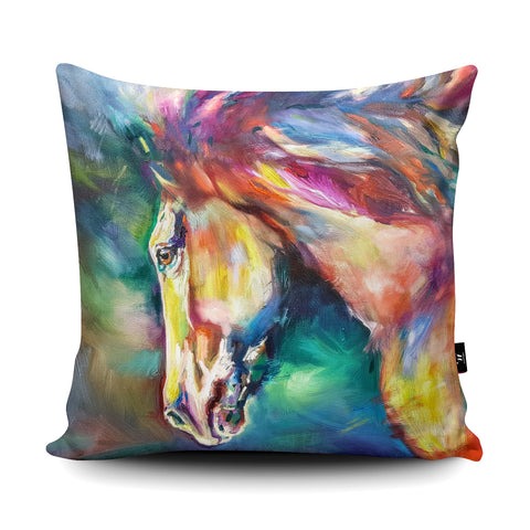 Chestnut Horse Cushion by Sue Gardner