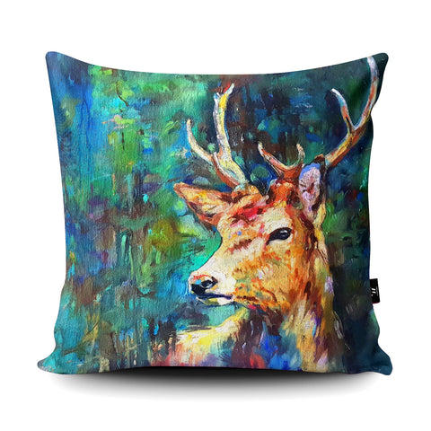 Watcher In The Wood Cushion by Sue Gardner