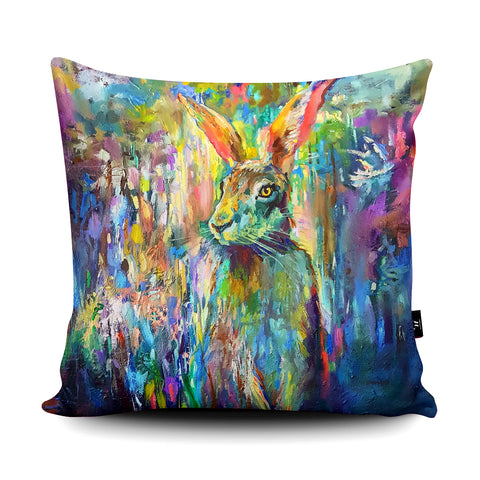 Woodland Hare Cushion by Sue Gardner