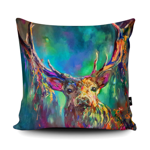 Woodland Stag Cushion by Sue Gardner