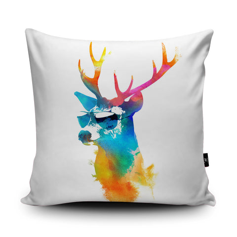 Sunny Stag Cushion by Robert Farkas