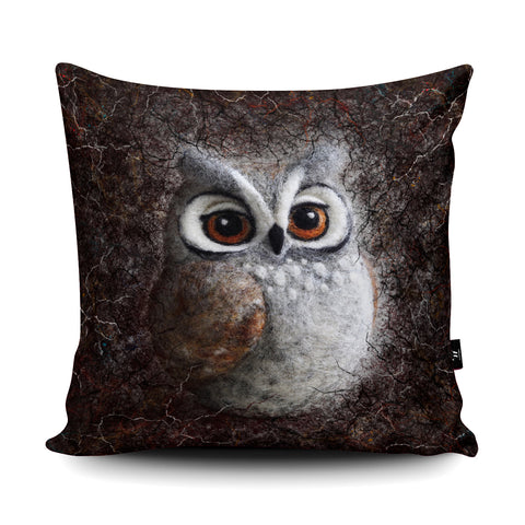 Horned Owl Cushion by The Lady Moth