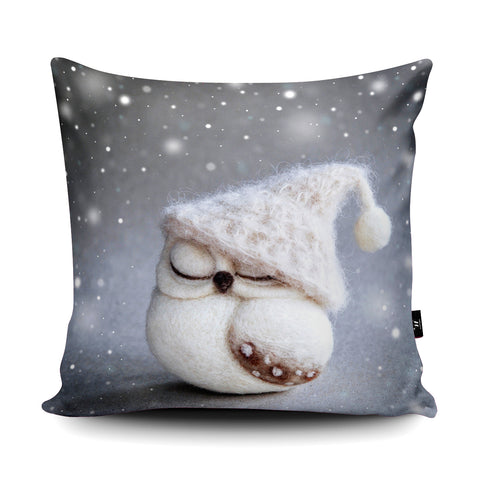 Winter Owl Cushion by The Lady Moth