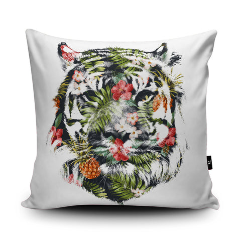 Tropical Tiger Cushion by Robert Farkas