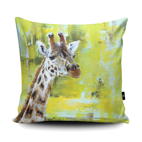 Chester Zoo Giraffe Cushion by Valerie de Rozarieux