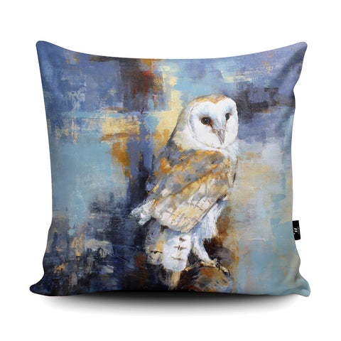 City Barn Owl Cushion by Valerie de Rozarieux
