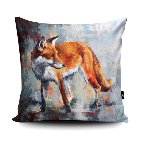 City Fox Cushion by Valerie de Rozarieux