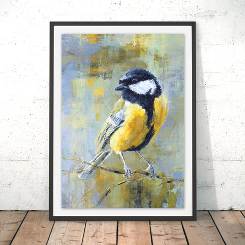 Great Tit Original Print by Valerie de Rozarieux