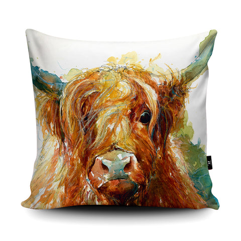 Highland Cutie Cushion by Valerie de Rozarieux