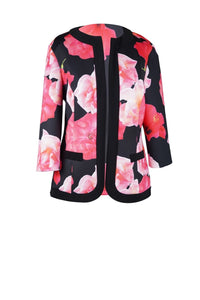 Black and pink floral jacket