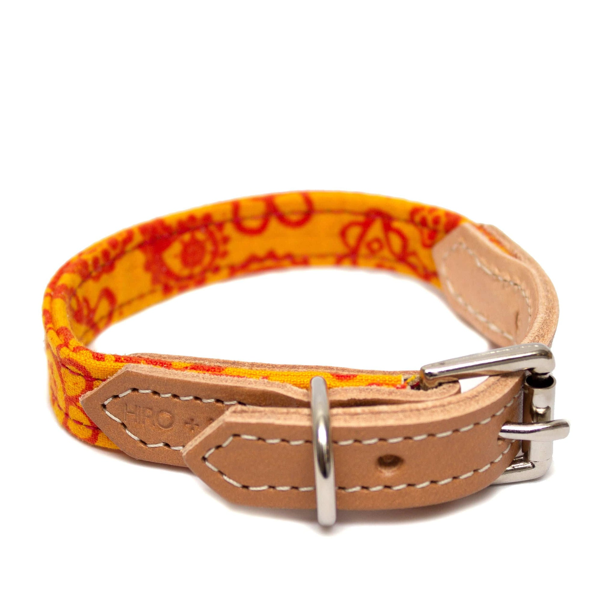 Paisley Orange Dog Collar Paisley - Holler Brighton