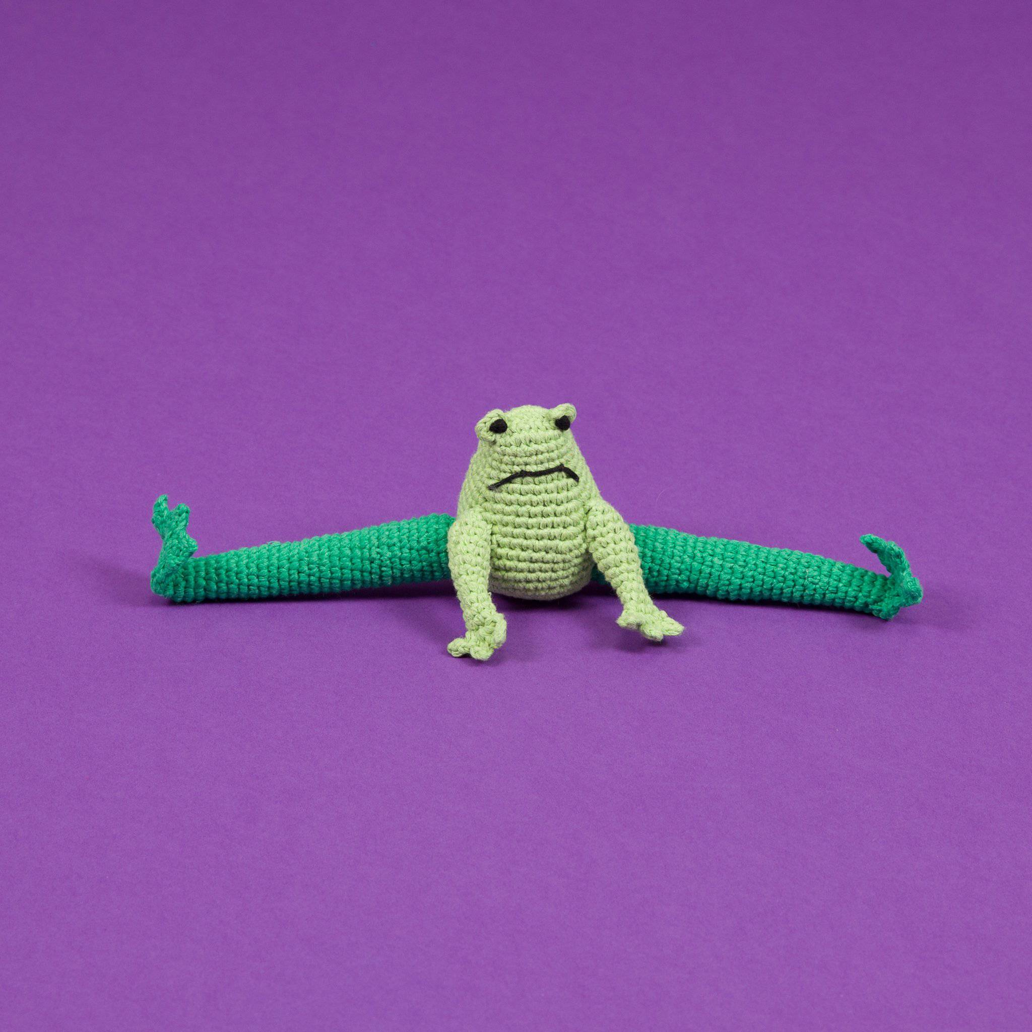 Frog - Crochet Toy - Holler Brighton