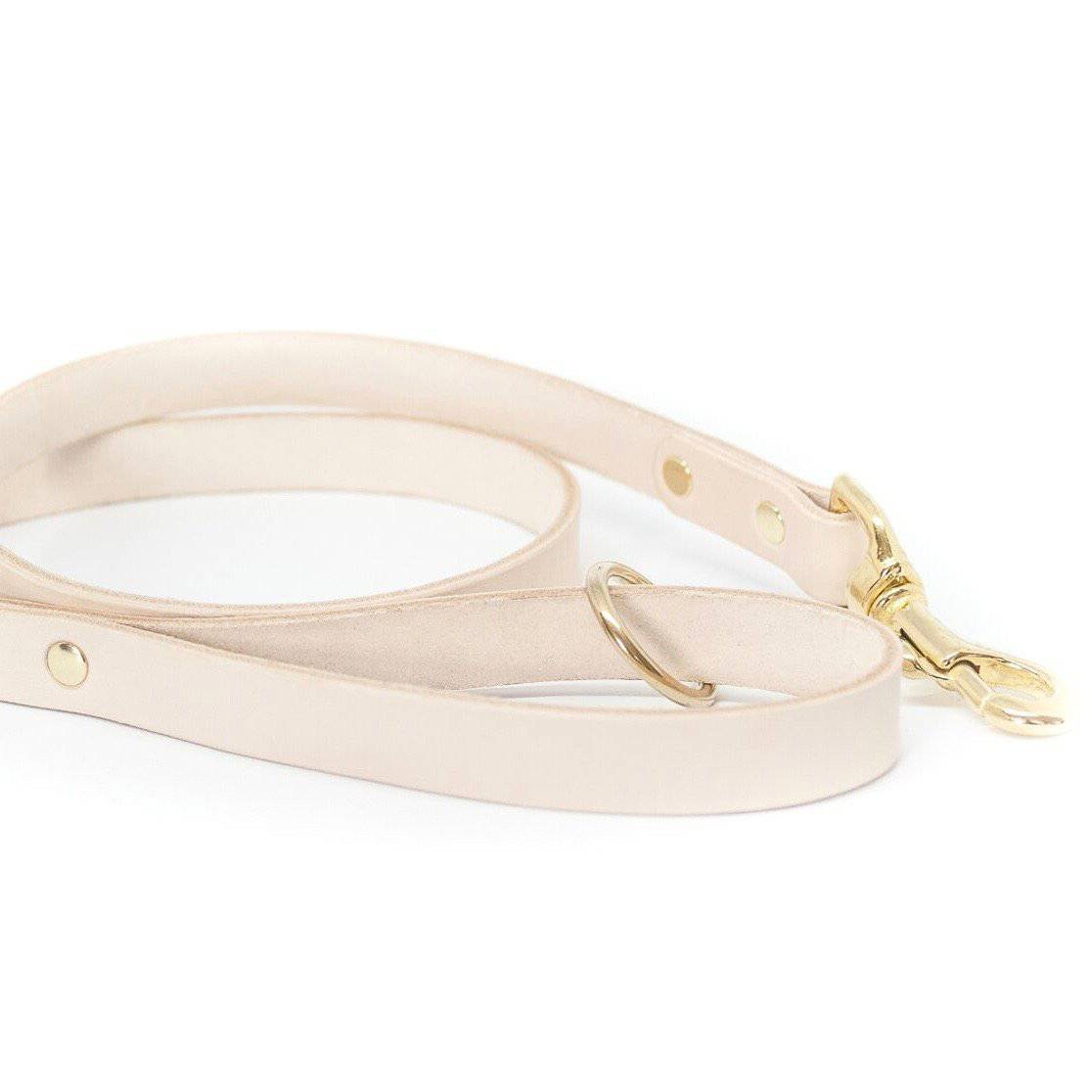 Nude - Classic Leather Lead - Holler Brighton