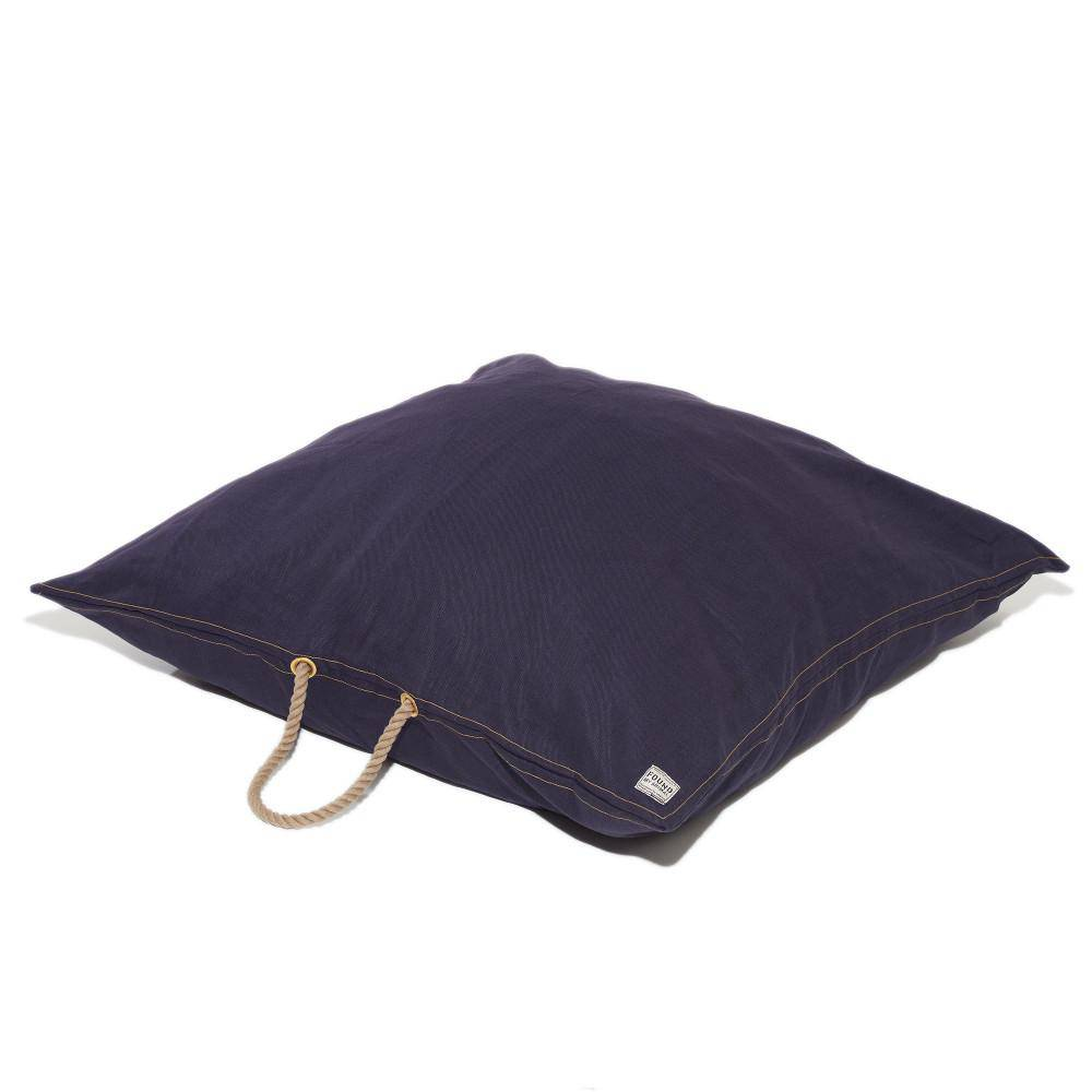 Denim Waxed Cotton Canvas Dog bed - Holler Brighton