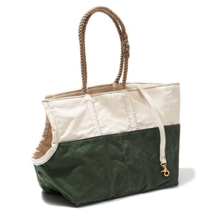 Natural & Olive - Dog Carrier With Rope handle - Holler Brighton