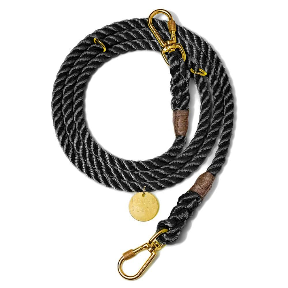 Black - Adjustable Rope Lead - Holler Brighton