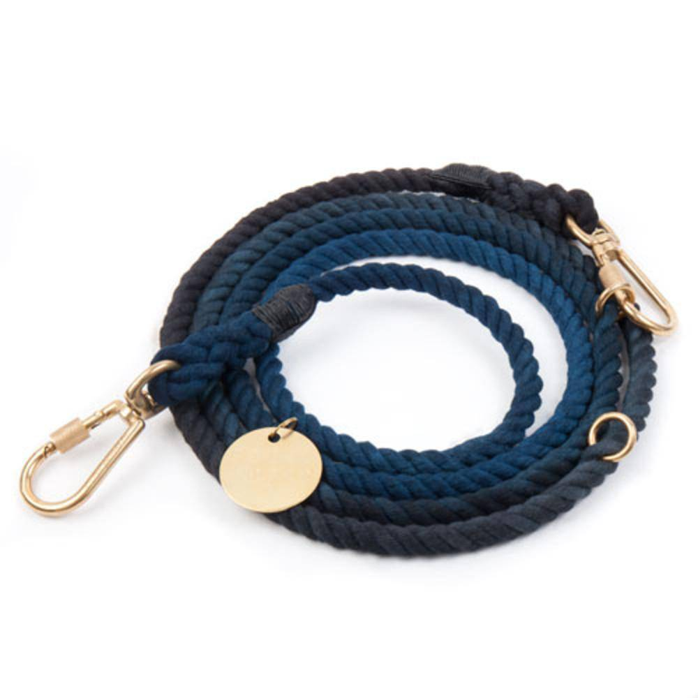 Blue to Black - Cotton Adjustable Rope Lead - Holler Brighton