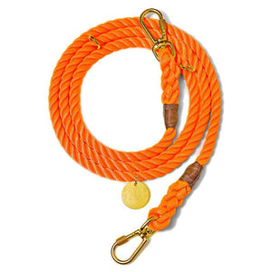 Orange - Adjustable Rope Lead - [Holler Brighton]