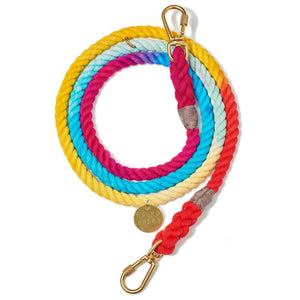 Prismatic - Cotton Adjustable Rope lead - Holler Brighton