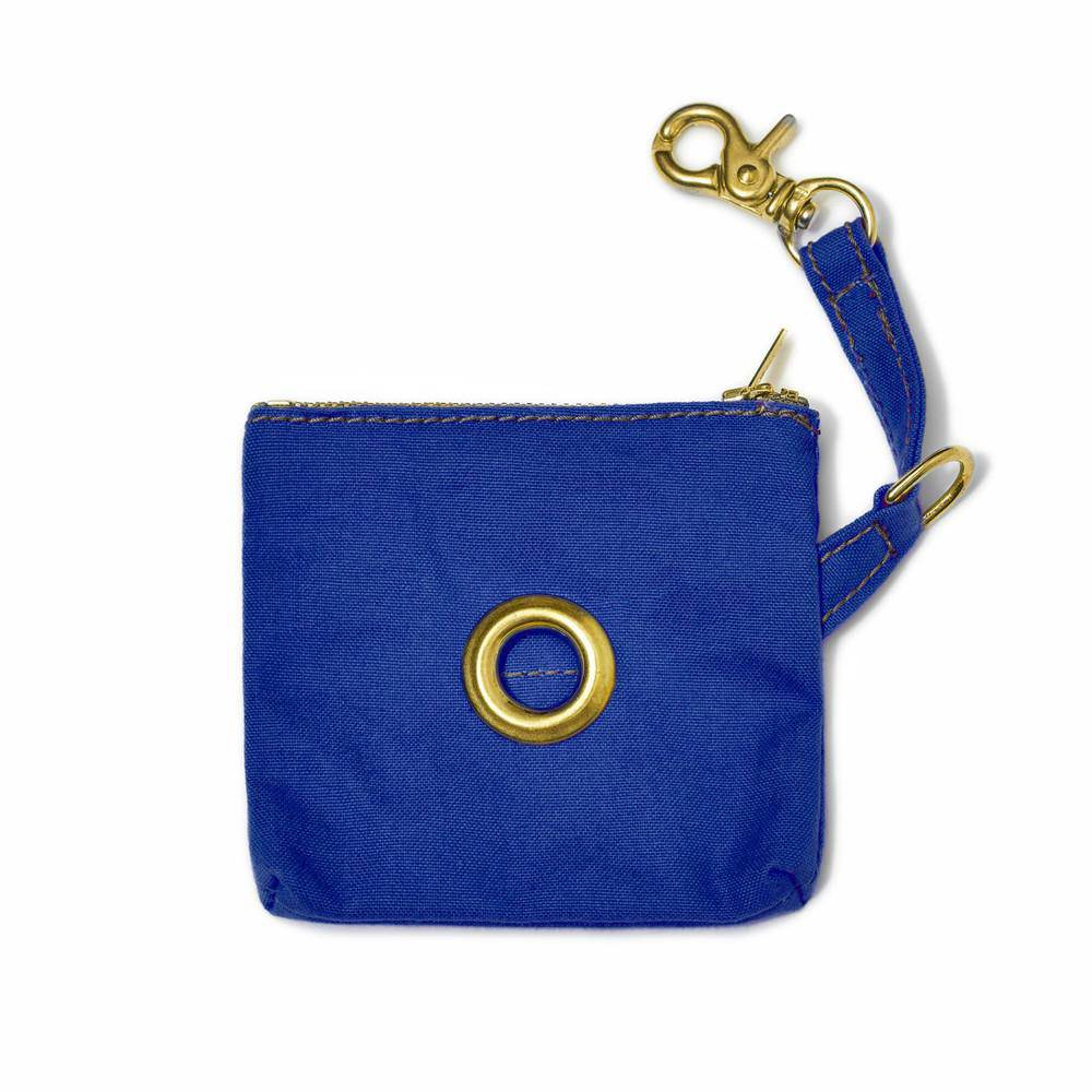 Blue - Waxed Canvas Poo Bag holder - Holler Brighton