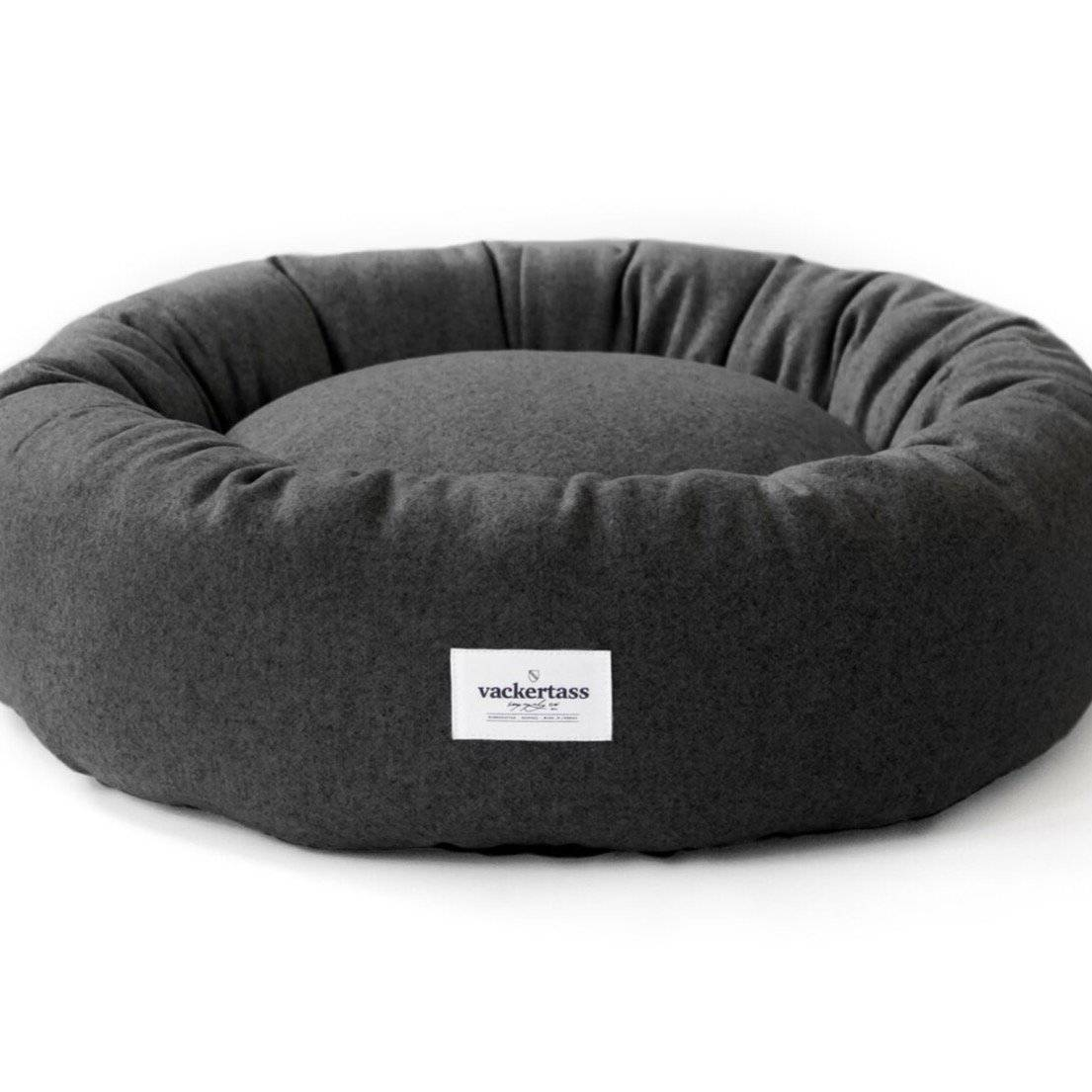 Anthracite - Italian Melton Wool Halo Bed - Holler Brighton