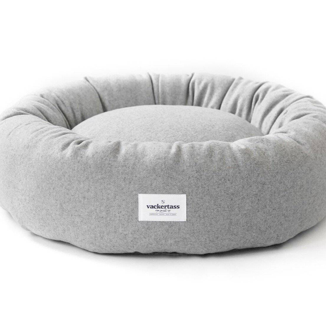 Stone -  Italian Melton Wool Halo Bed - Holler Brighton