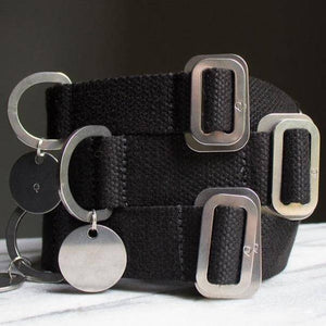 Black - Cotton Collar + Marine Grade Steel Buckle - Holler Brighton