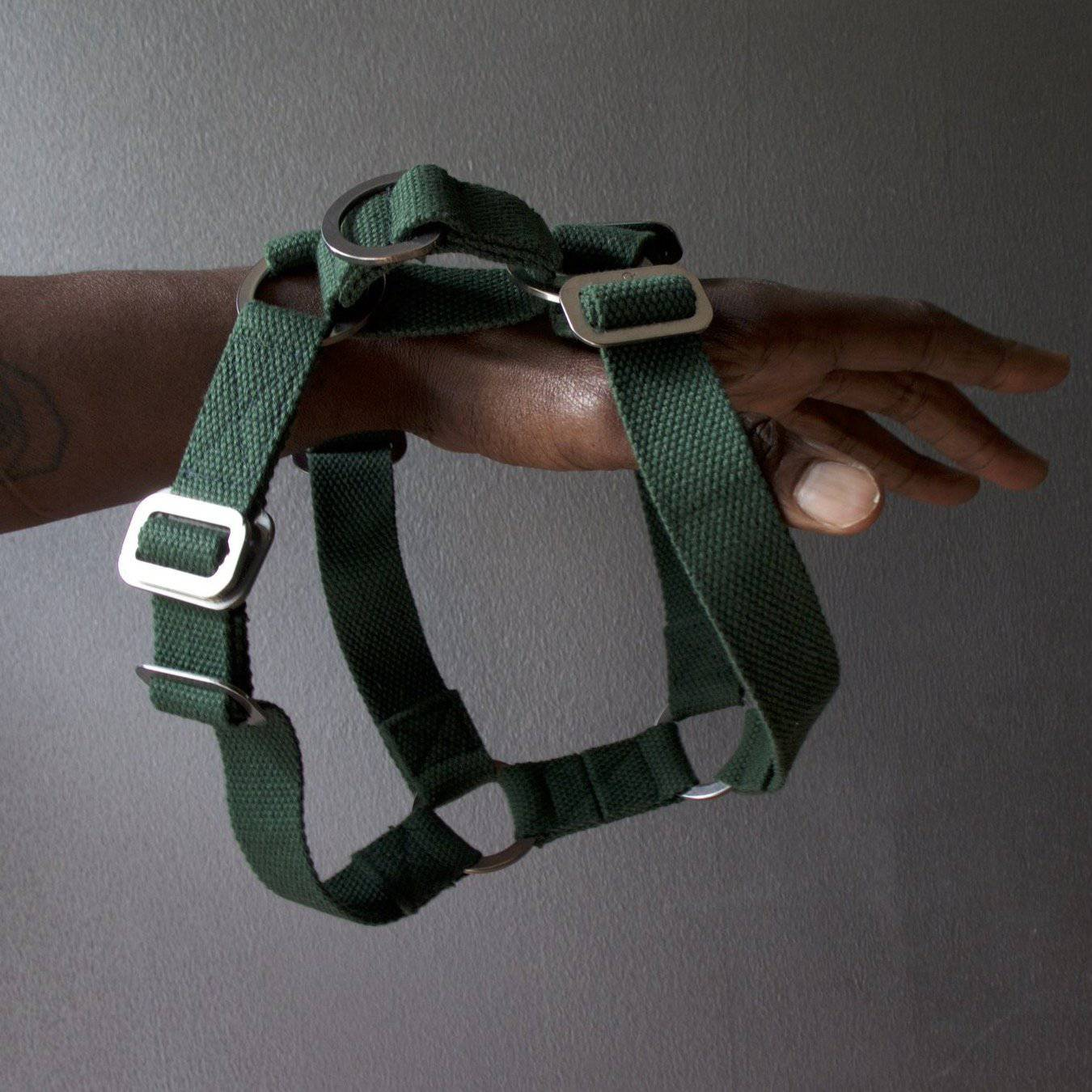 Green Cotton Harness + Marine Grade Steel Hardware - Holler Brighton
