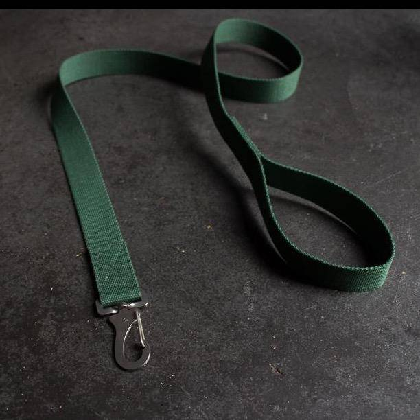 Green Cotton Lead + Marine Grade Steel Snap Hook - Holler Brighton