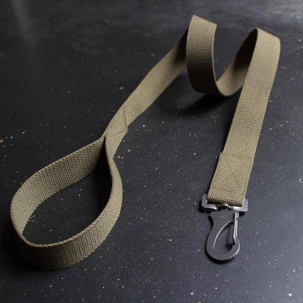 Khaki Cotton Lead + Marine Grade Steel Snap Hook - Holler Brighton