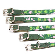 Green & Pink Combs Dog Collar - [Holler Brighton]