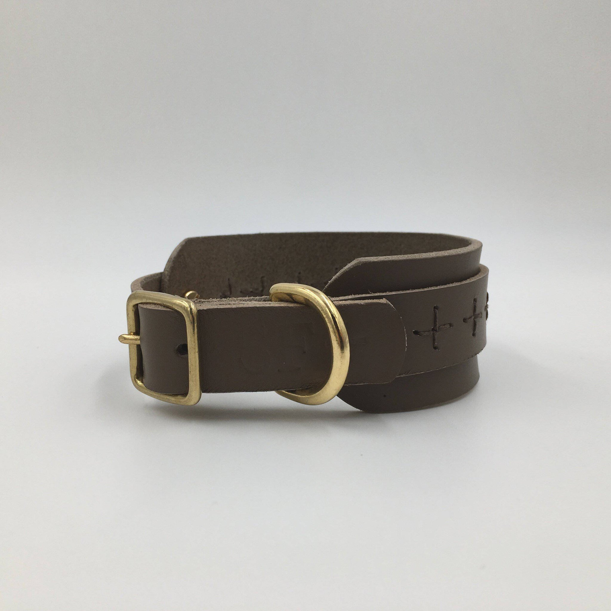 Brown - Craft Style Sighthound Collar - Holler Brighton