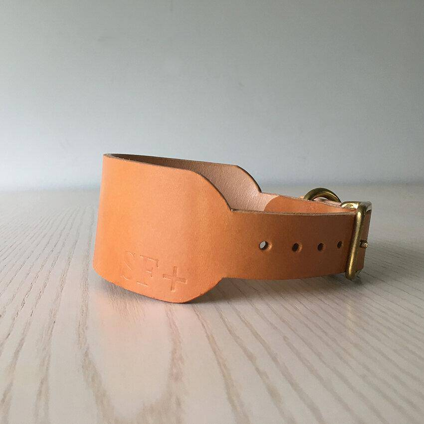 Natural Tan - Leather Sighthound Collar - [Holler Brighton]