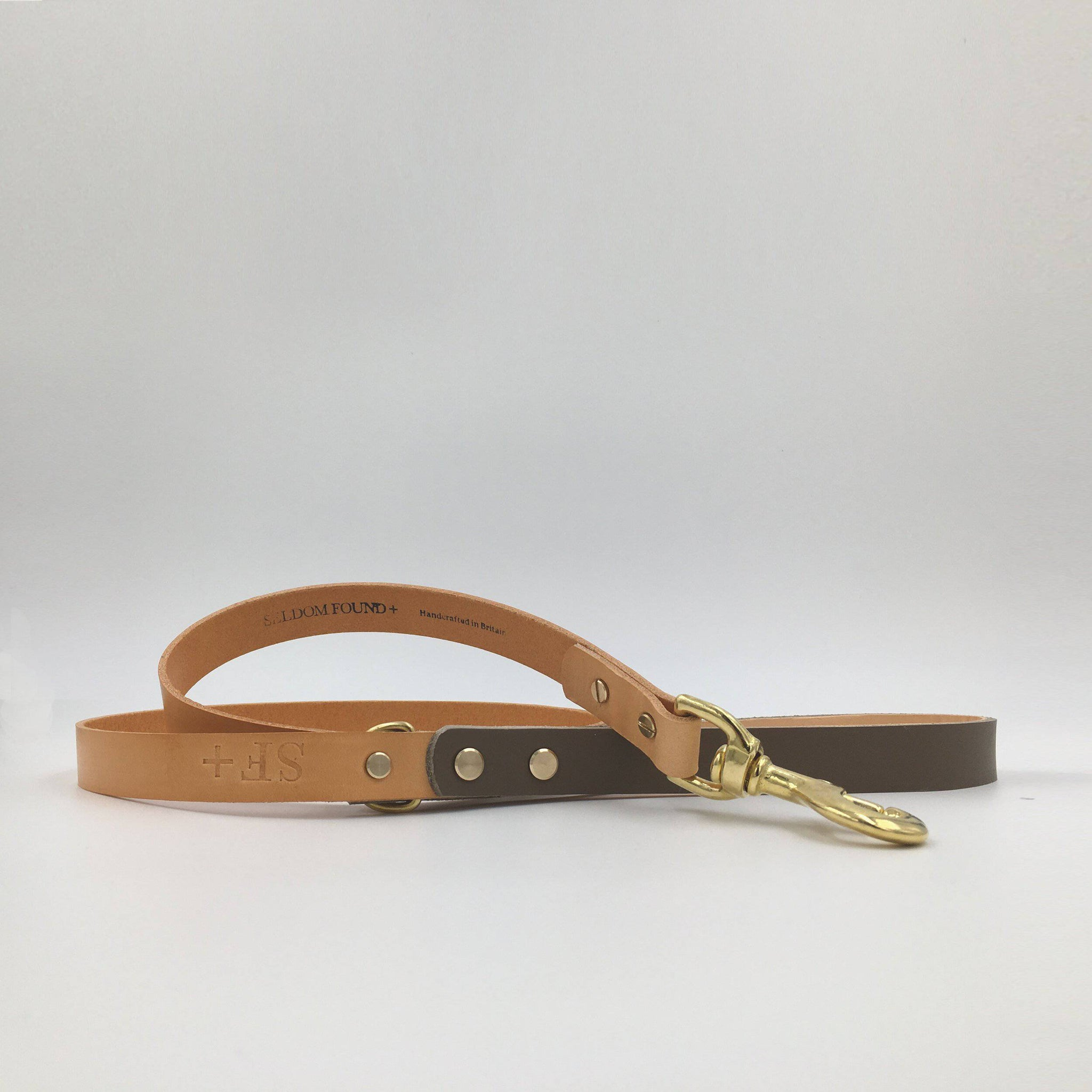 Brown & Tan - Leather Lead - Holler Brighton